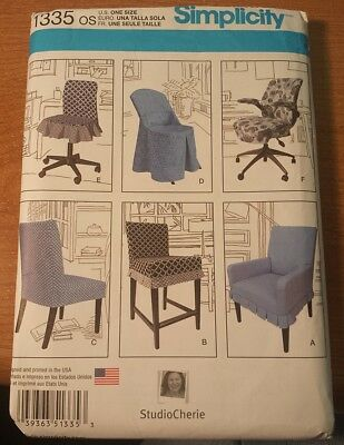 Simplicity 1335 chair covers sewing patterns UNCUT  2014