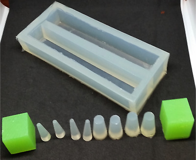 Silicone Pen Turning Blank Mould Mold 2-Cavity+Free Trial Tube-in Set Resin Cast