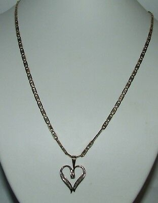 10Kt Solid Yellow Gold Neckless W/diamond Pendent (See Disciption)(162)