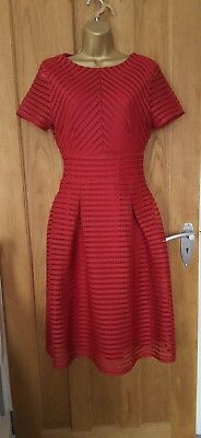 New Bohoo women ladies  red lace dress size 8 wedding, races, event, occasion