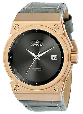Invicta 24463 Women's Akula Grey Dial Grey Croco Embossed Leather Strap Watch