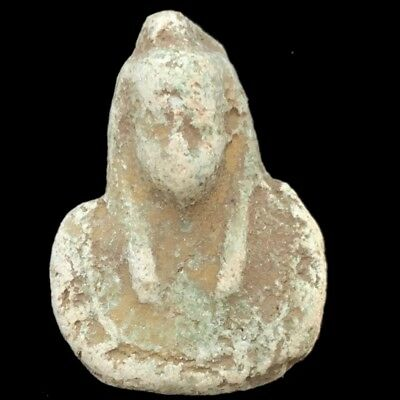 Rare Ancient Egyptian Bust Amulet 300B.c.  (3)