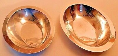 Hand wrought sterling silver bowls, pair, pattern #588, Randahl of Chicago.