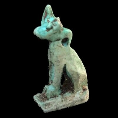 Rare Ancient Egyptian Cat Amulet 300B.c.  (5)