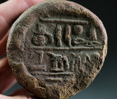 *sc*egyptian Clay Terracotta Funerary Cone For Sebekmose!!