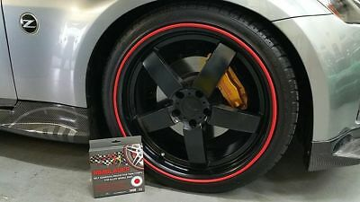 RED SCUFFS by Rimblades Alloy Wheel Protector SPORT BIKE Protection 1 STRIP ONLY