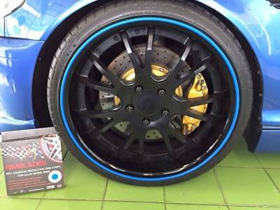 BLUE SCUFFS by Rimblades Alloy Wheel Protector Protection  1 STRIP ONLY