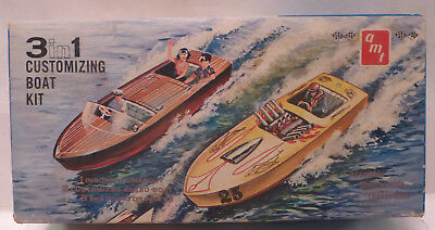 AMT ORIGINAL1959 ISSUE No.159 3 IN 1 BOAT Customizing Kit - Unbuilt & Mint