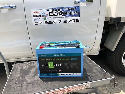Relion Lithium deep cycle battery 12v 80ah 11.35kg 6000 cycles @ 100% discharge
