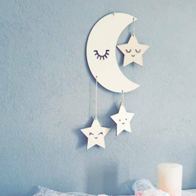 Nursery Decor Children's Room Decor Baby Room Wooden Cloud Star For Boy Girl W