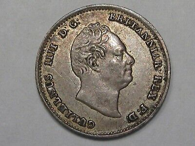 Better-Grade 1836 Silver Great Britain Four Pence. King William IIII. 4p.  #15
