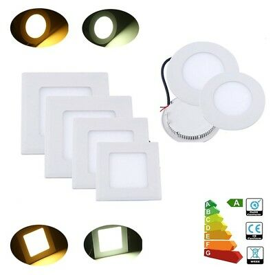 Ultraslim Round Square Recessed Ceiling LED Flat Panel Downlights Day Warm White