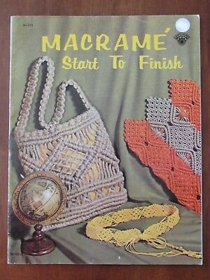Macrame - Start To Finish H-193 Necklace Choker Collar Knot Instructions