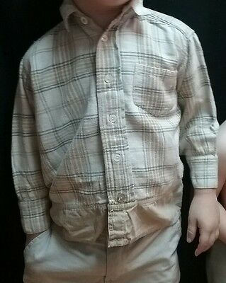 Vintage boy or girl 1940s 1950s flannel button shirt western rodeo size 3 4 5