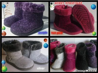 NEW FURRY GLITTER BOOTS FOR TODDLERS Many Sizes GREAT FOR CHRISTMAS//WINTER