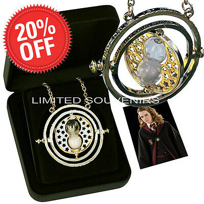 Harry Potter Horcrux Gold Plated Pendant Hermione Granger Time Turner Necklace