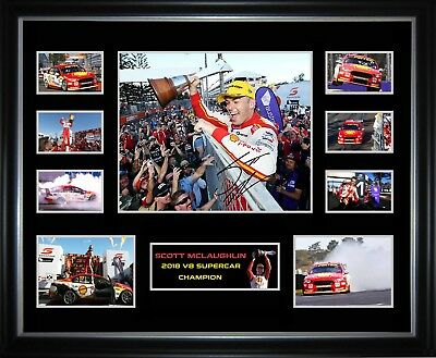 Scott Mclaughlin 2018 V8 Supercar Champion Framed Memorabilia