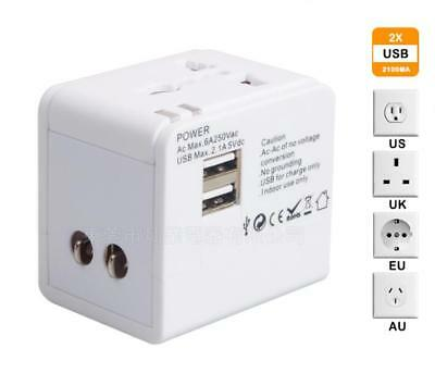 Universal Travel USB Power Adapter Electric Charger World Converter AU/US/UK/EU