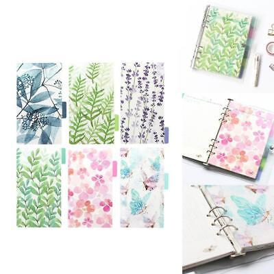 6PCS/set A5A6 planner 6 holes color index of notebook pages Paging separator