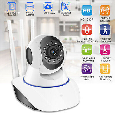 ❤️Wireless HD Pan/Tilt IP Security Camera Network CCTV Night Vision WiFi Webcam*