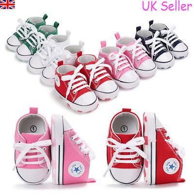 Newborn Infant Baby Boys Girls Pre Walker Soft Sneakers Crib Pram Shoes Trainers