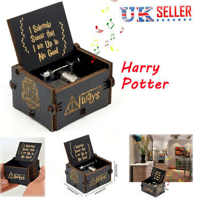 Harry Potter Music Box Engraved Wooden Music Box Interesting Toys Xmas Gifts Kid