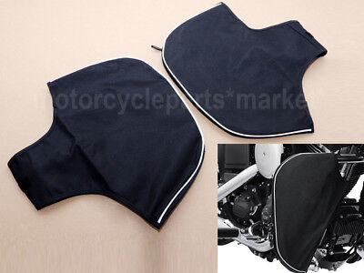 SOFT LOWERS LEG FAIRINGS Chaps Warmer Cover Bag for Harley Touring Engine Guard