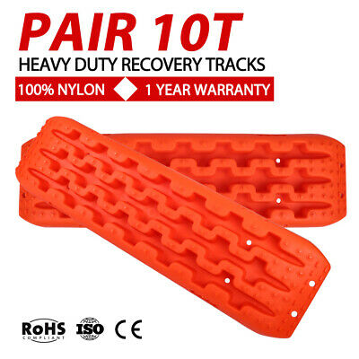 Pair 10T Recovery Tracks Off Road 4x4 4WD Car Snow Mud Sand Track 10 Ton Orange