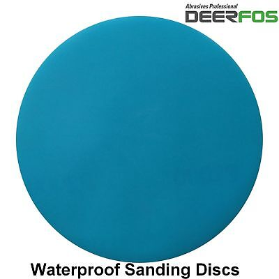 "75mm 3"" Wet or Dry Hook & Loop Sanding Discs P40-P3000 Sandpaper DA Pads / VAT"