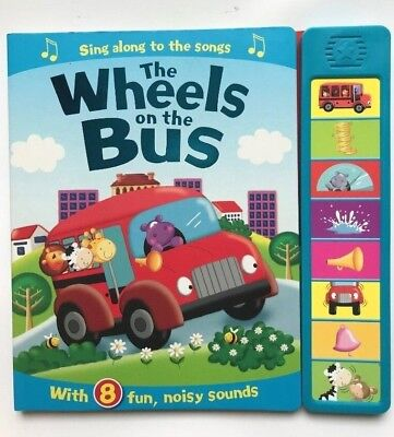 The Wheels On The Bus Sound Book With 8 Fun Kids Age 0 months+ to 4 Yrs New Gift