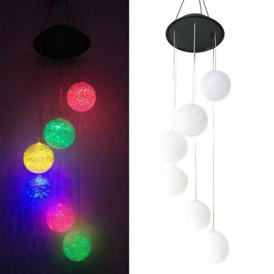 Solar LED Color Changing Wind Chimes Yard Garden Home Window Decor Lamp Lights