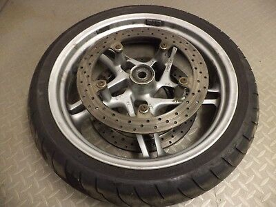 2004 BMW R1150RT R1150 RT front wheel with tyre and brake discs