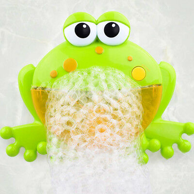Bubble Machine Frog Automatic Bubble Maker Blower Music Bath Toys For Baby Kids