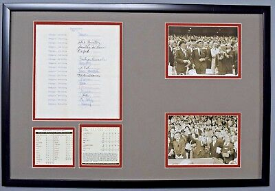 John F Kennedy+Lincoln Signed Auto Autograph 59 World Series Betting Doc Psa/dna