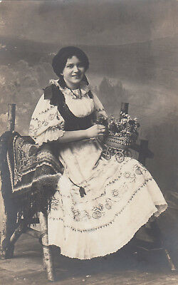 RP: Portrait Czech woman in traditional dress , Czech Republic , 00-10s