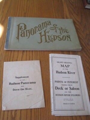 Panorama of the Hudson From New York to Poughkeepsie 1906 Wallace Bruce w/ Map