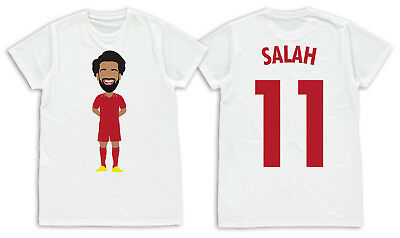 buy popular 8e1fb a6a20 MOHAMED SALAH LIVERPOOL Kids T-Shirt Age 1-13 Liverpool No ...