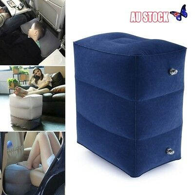 Inflatable Foot Rest Travel Air Pillow Cushion Home Leg Up Footrest Hiking Relax