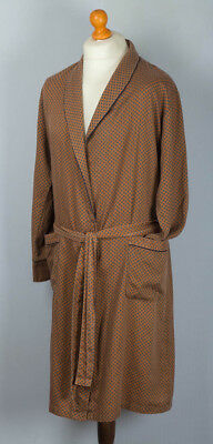 Vintage Mens St Michael Dressing Gown. Robe. Size small. Gold colour. XMAS GIFT.