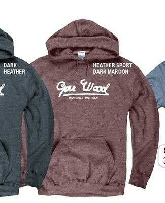 GAR WOOD BOATS, in Heather Maroon Hoody