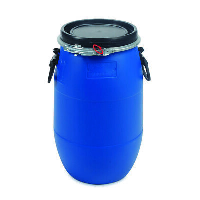 30 L Ltr Litre Plastic Blue Open Top Keg Drum Barrel for Storage Food Grade with