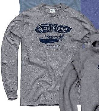 Feather Craft Boats, Atlanta Georgia in grey long sleeve