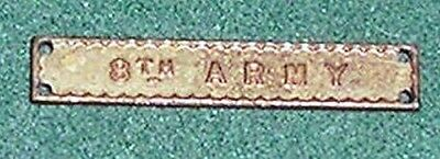 Ww2 Genuine 8Th Army Clasp For The Ribbon Of The Africa Star 1939-45