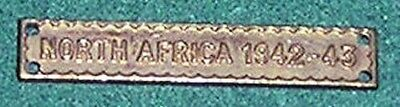 Ww2 Genuine North Africa 1942-43 Clasp For The Ribbon Of The Africa Star 1939-45