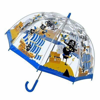 "Bugzz Soake Kids Pirate Bright Blue Boys Manual Opening PVC Stick 24"" Umbrella"
