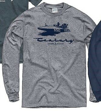CENTURY BOATS, HURRICANE in Grey Long Sleeve