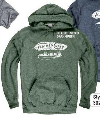 FEATHER CRAFT BOATS, Atlanta Georgia HEATHER SPORT DARK GREEN HOODY