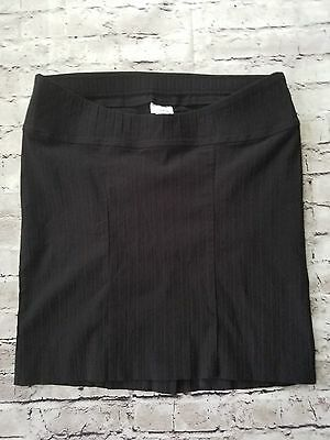Motherhood Maternity Womens Skirt Pencil Stretch Size Large Black Career