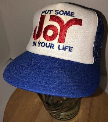 Vintage PUT SOME JOY IN YOUR LIFE 70s 80s USA Trucker Hat Cap Snapback Derby CT