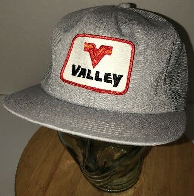 a8918c2c VTG VALLEY 80s USA K-Products Gray Trucker Hat Cap Snapback Feed Seed  FARMING